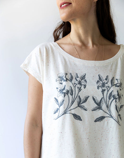 Lana tee in Cream Fleck *organic cotton