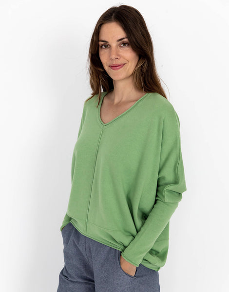 Leah Jumper in Peapod *organic cotton
