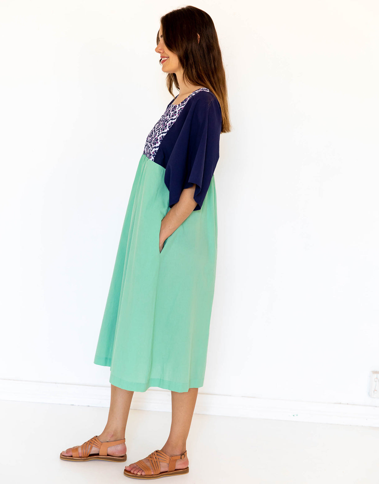 Maisie Dress in Mint *organic cotton