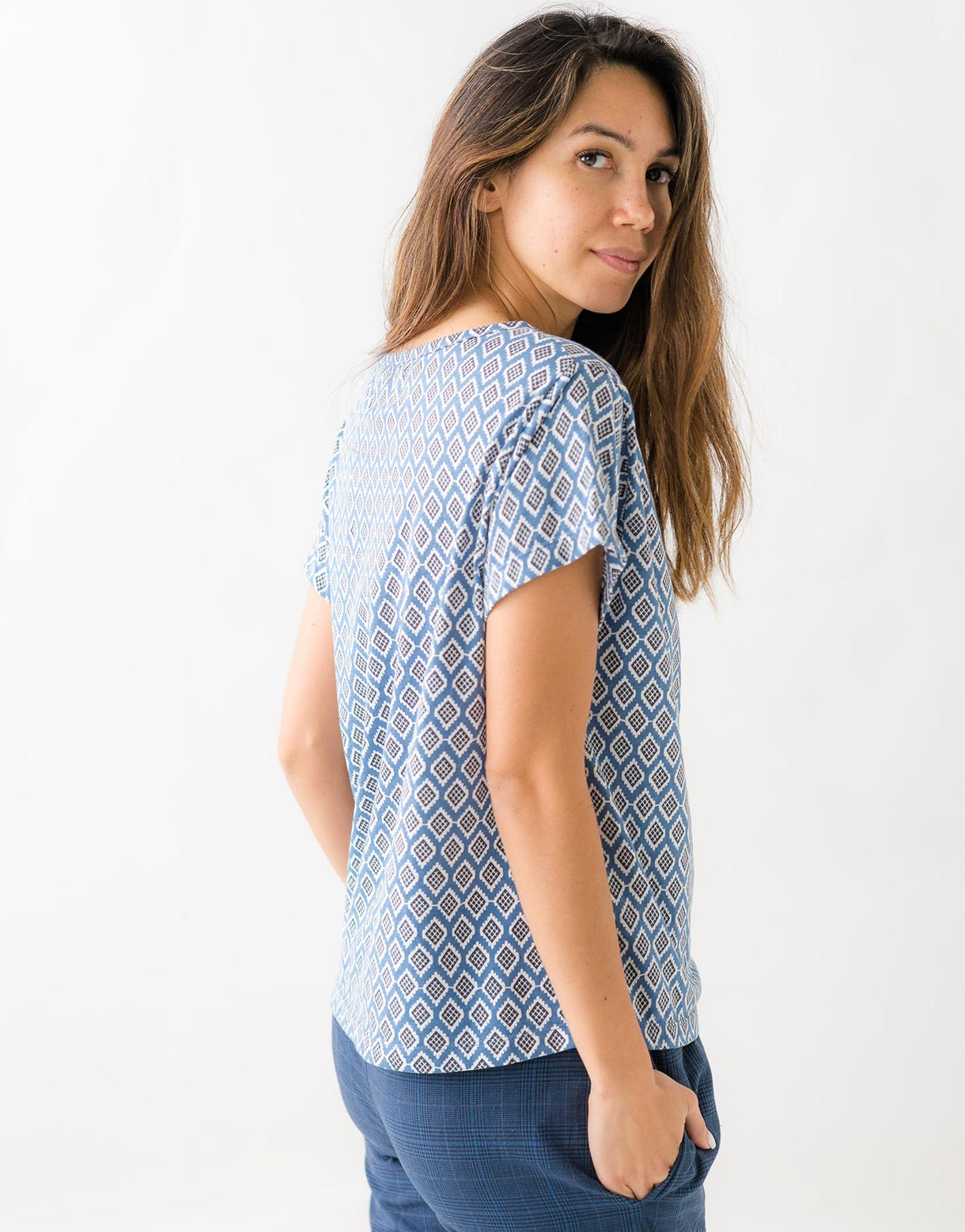 Margie Tee in Diamond *organic cotton