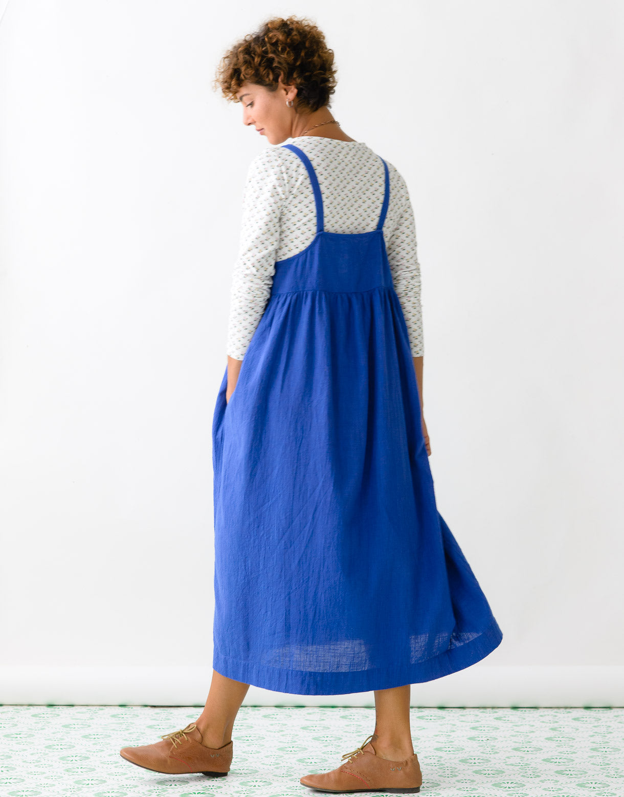 Margo Pinafore in Cobalt