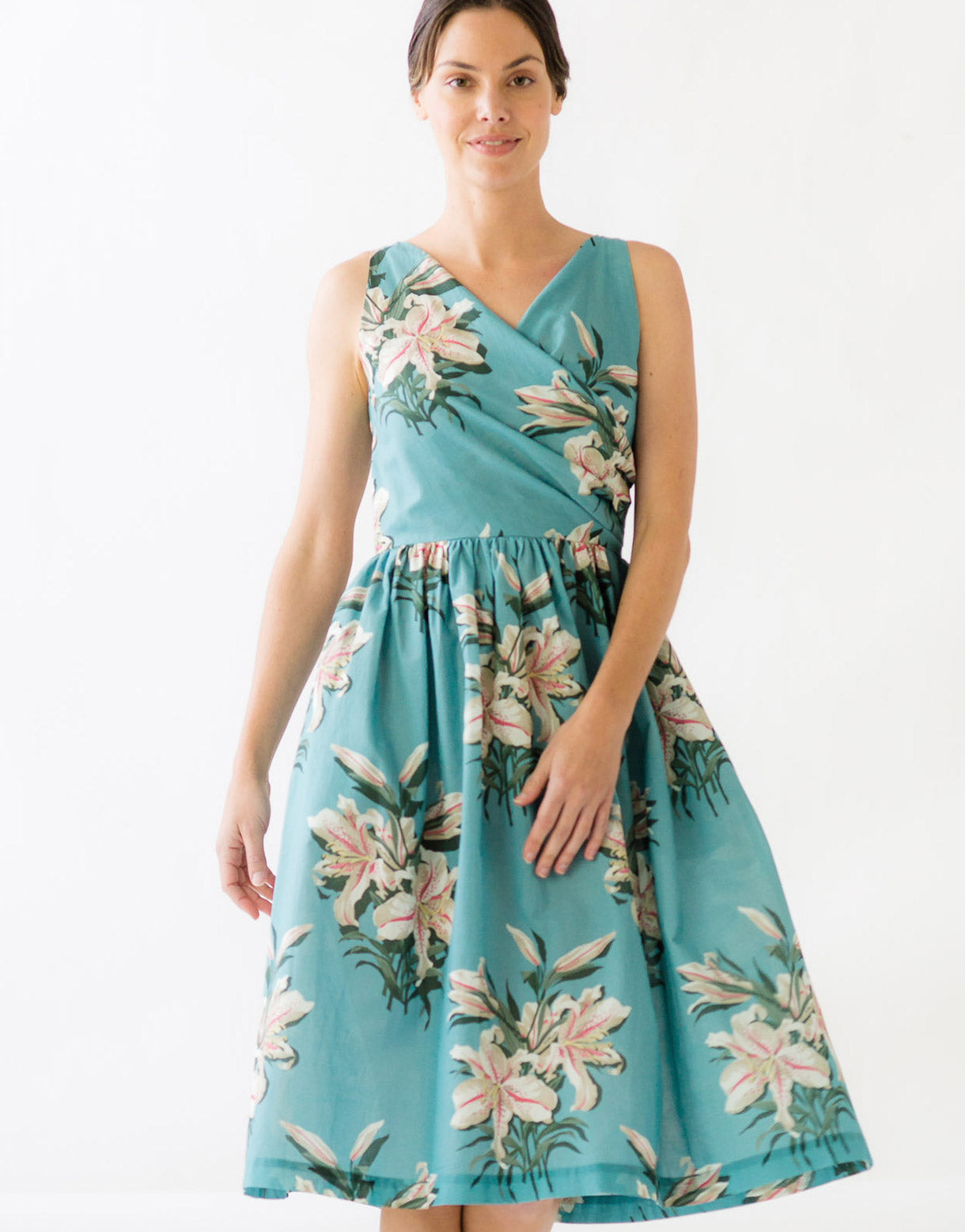 Marion Dress in Tiger Lily *organic cotton