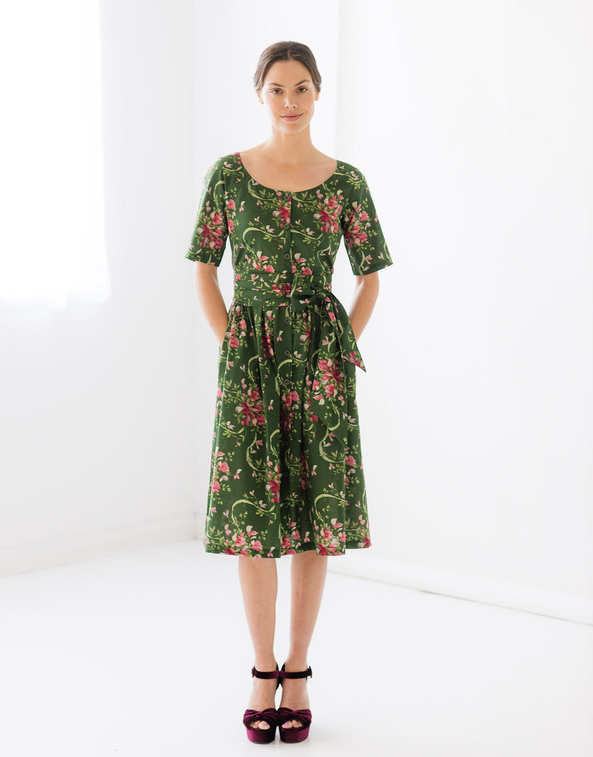 Maya Dress in Sweet Pea *organic cotton