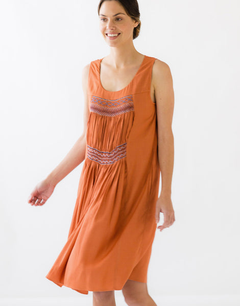 Mila Dress in Copper *sustainable viscose