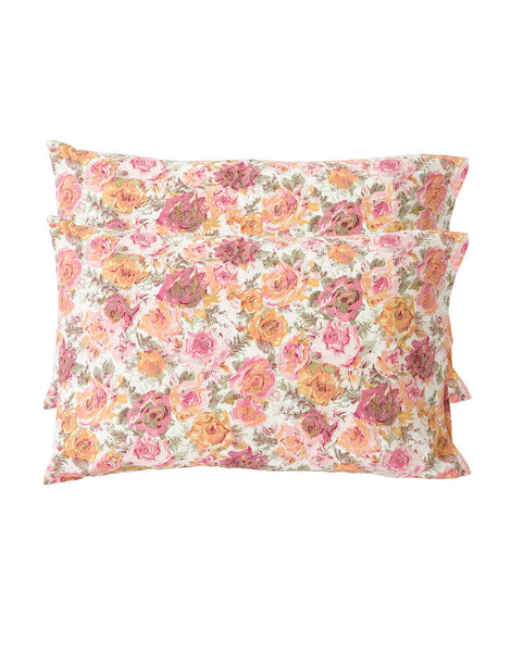 Pillowcase set in Peony