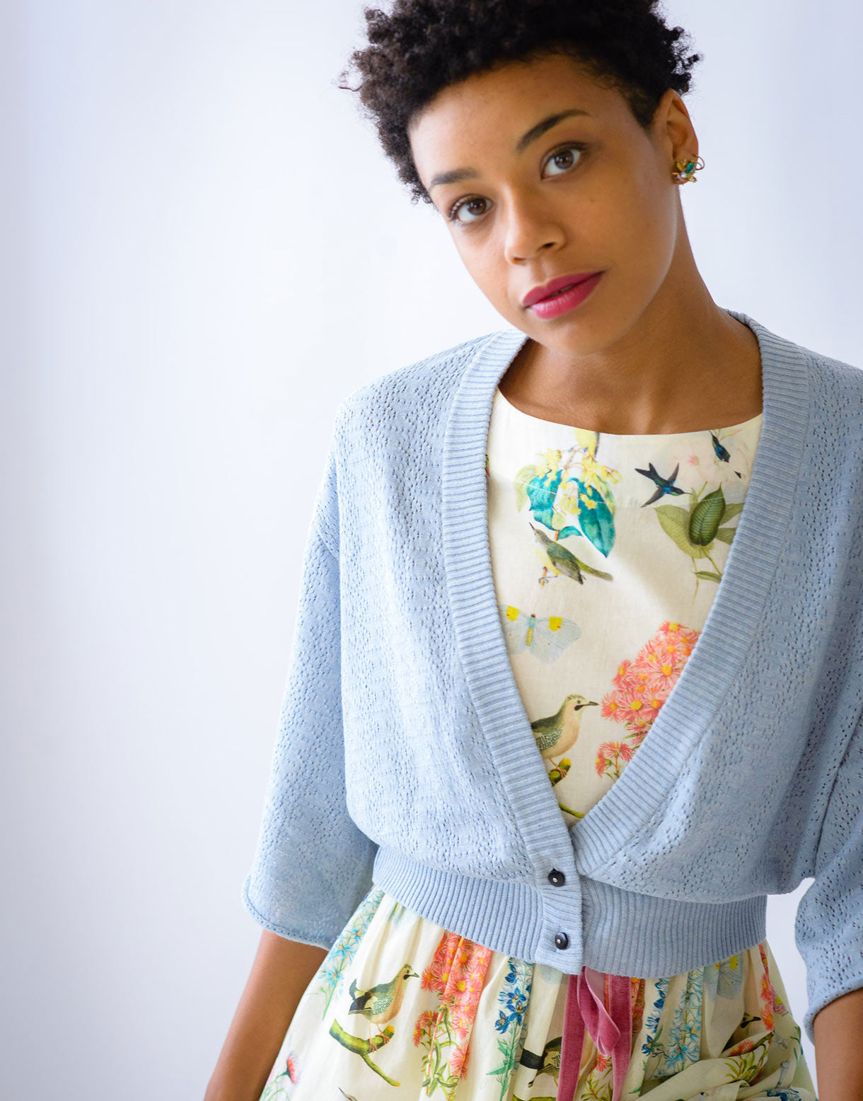 Pamela cardigan in Chambray *organic cotton