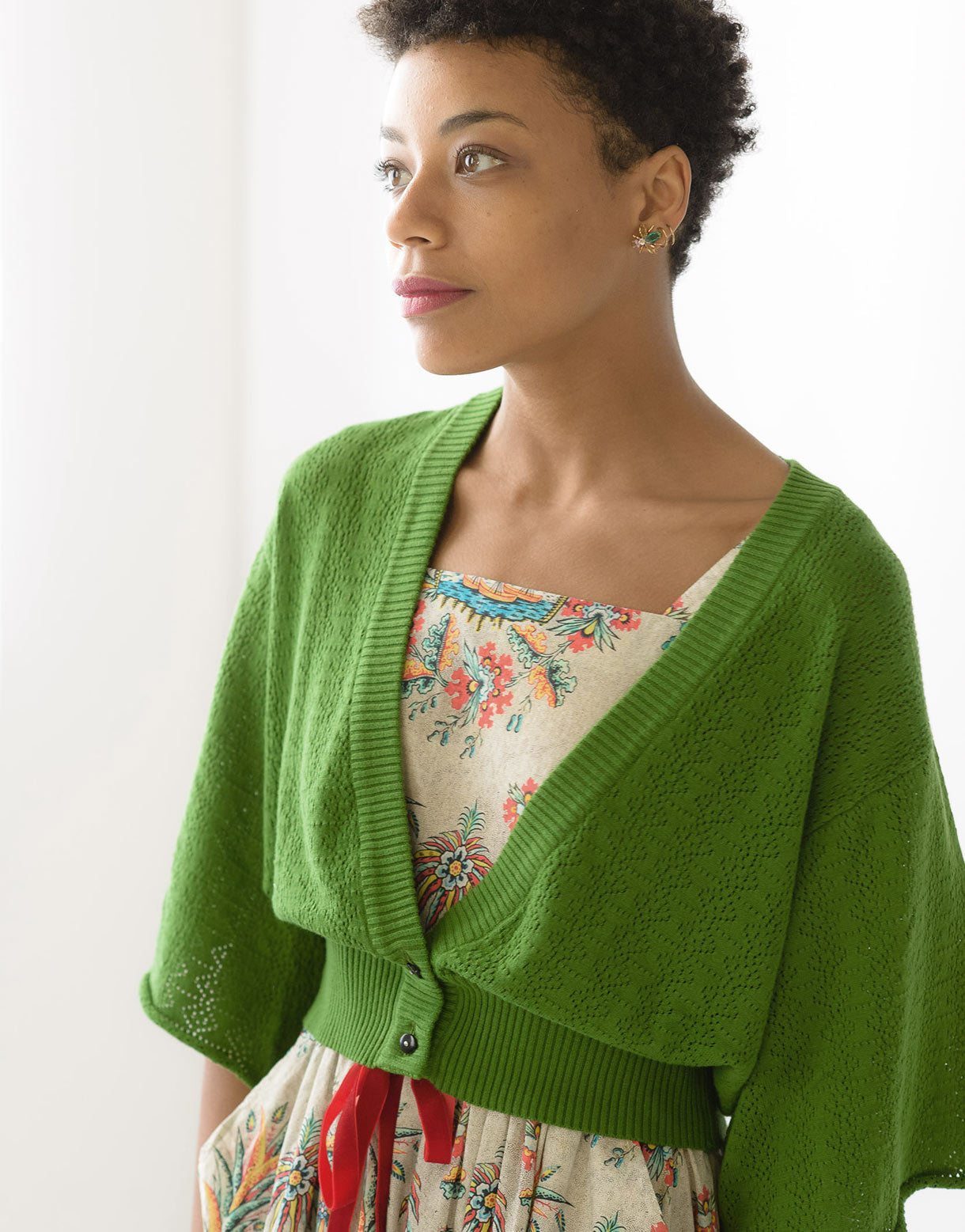 Pamela cardigan in Clover *organic cotton