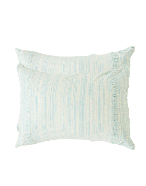 Rosette pillowcase set in Aqua Marle *organic cotton