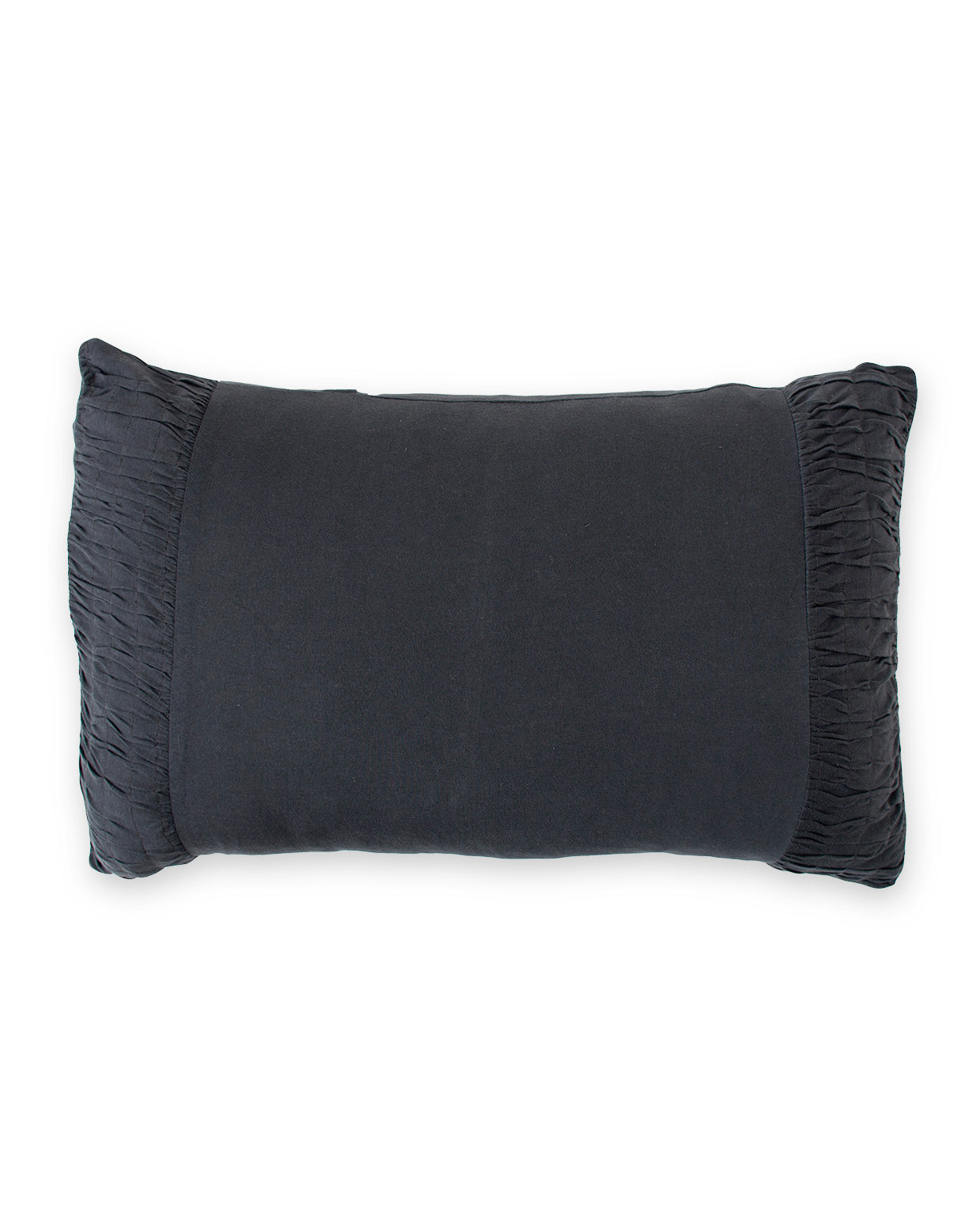 Rosette Pillowcase in Charcoal *organic cotton