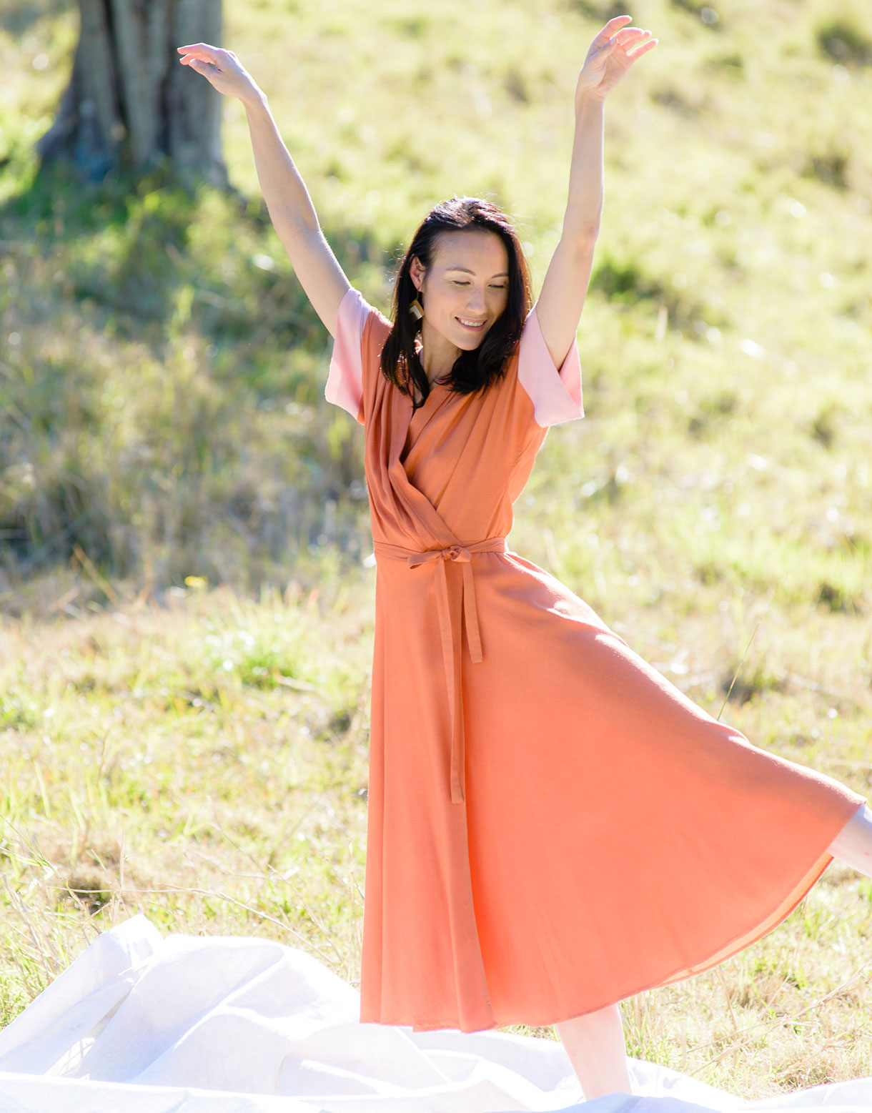 Priscilla Dress in Copper *sustainable viscose