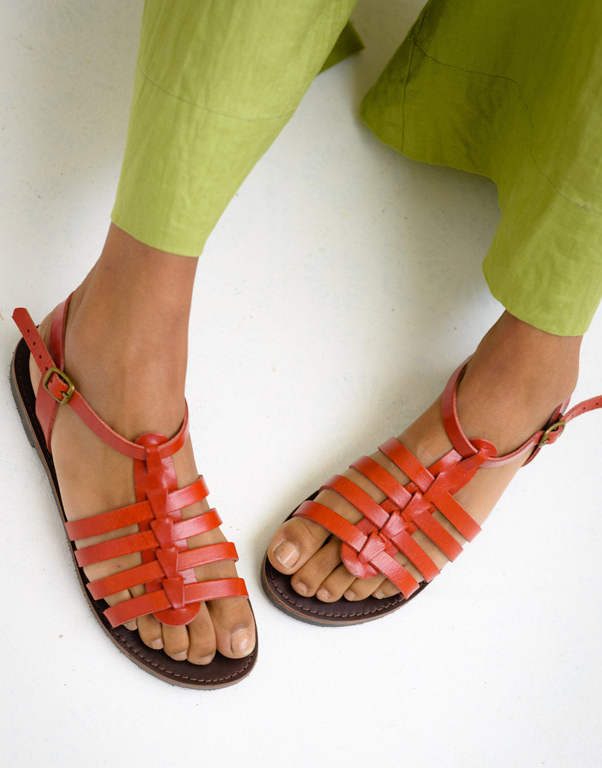 Alexandra Sandals in Red