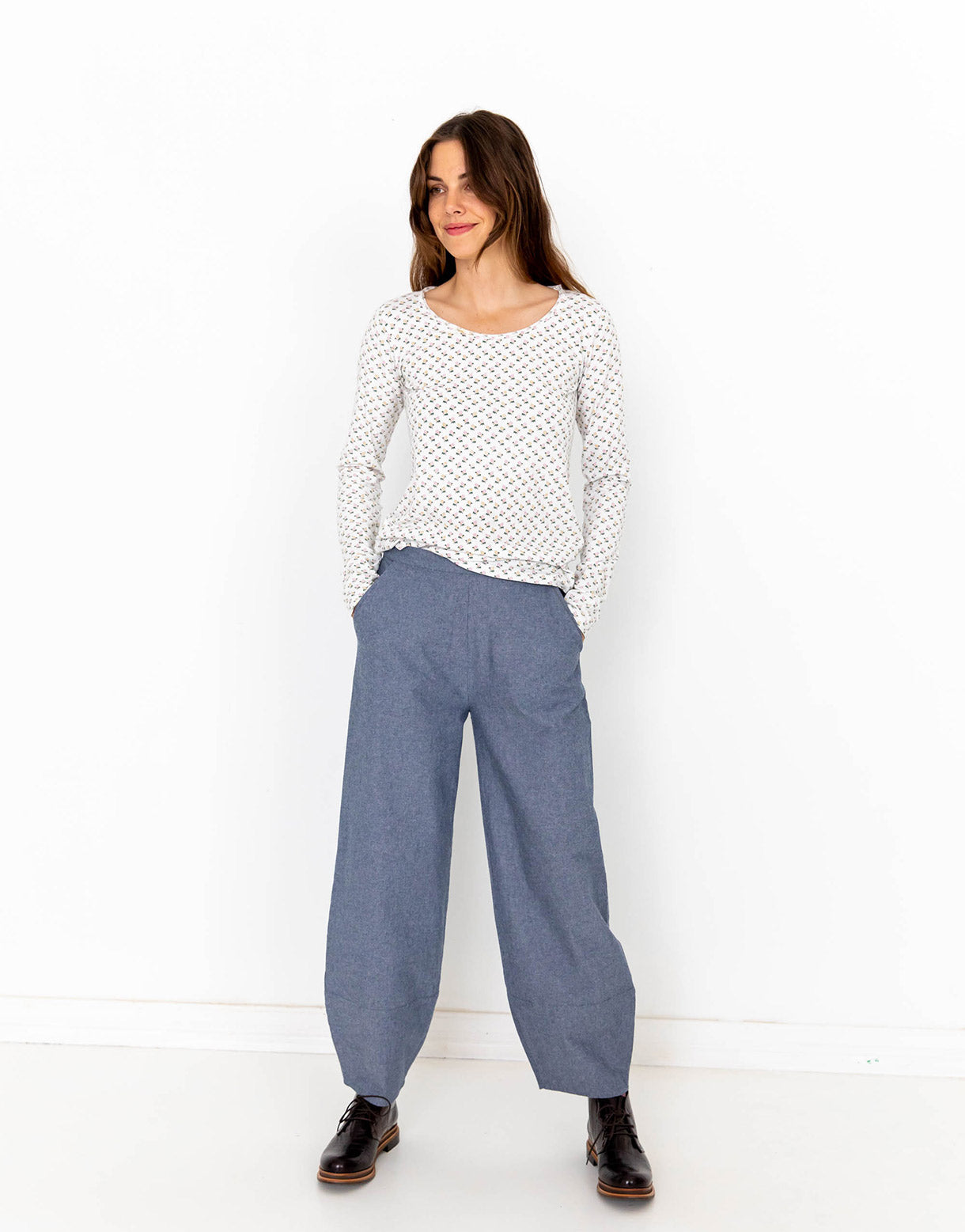 Sahara Pant in Chambray
