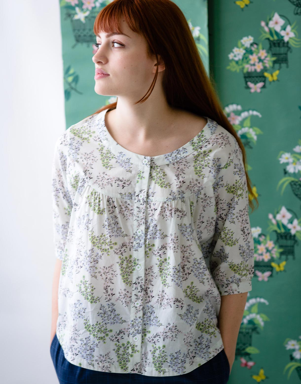 Sarah Top in Periwinkle *organic cotton