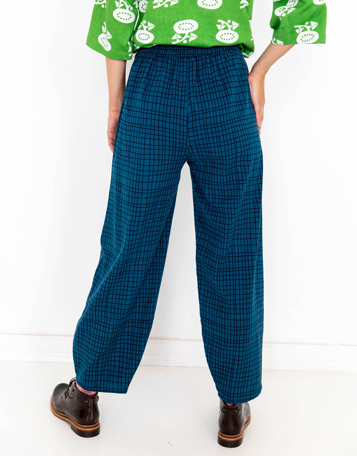 Sierra Pant in Grid *organic cotton/recycled flax