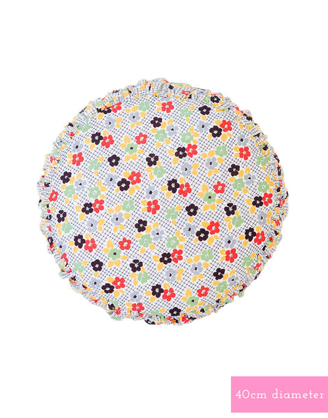 Small round Cushion cover in Daisy