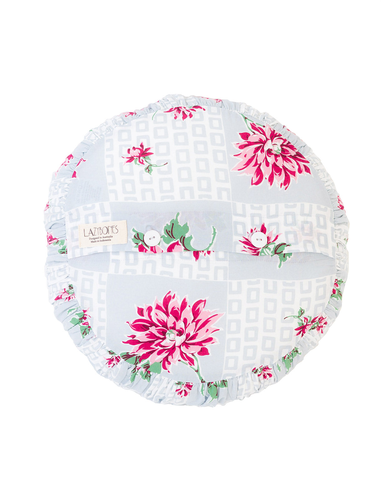 Small Round Cushion cover in Tin Can Bay