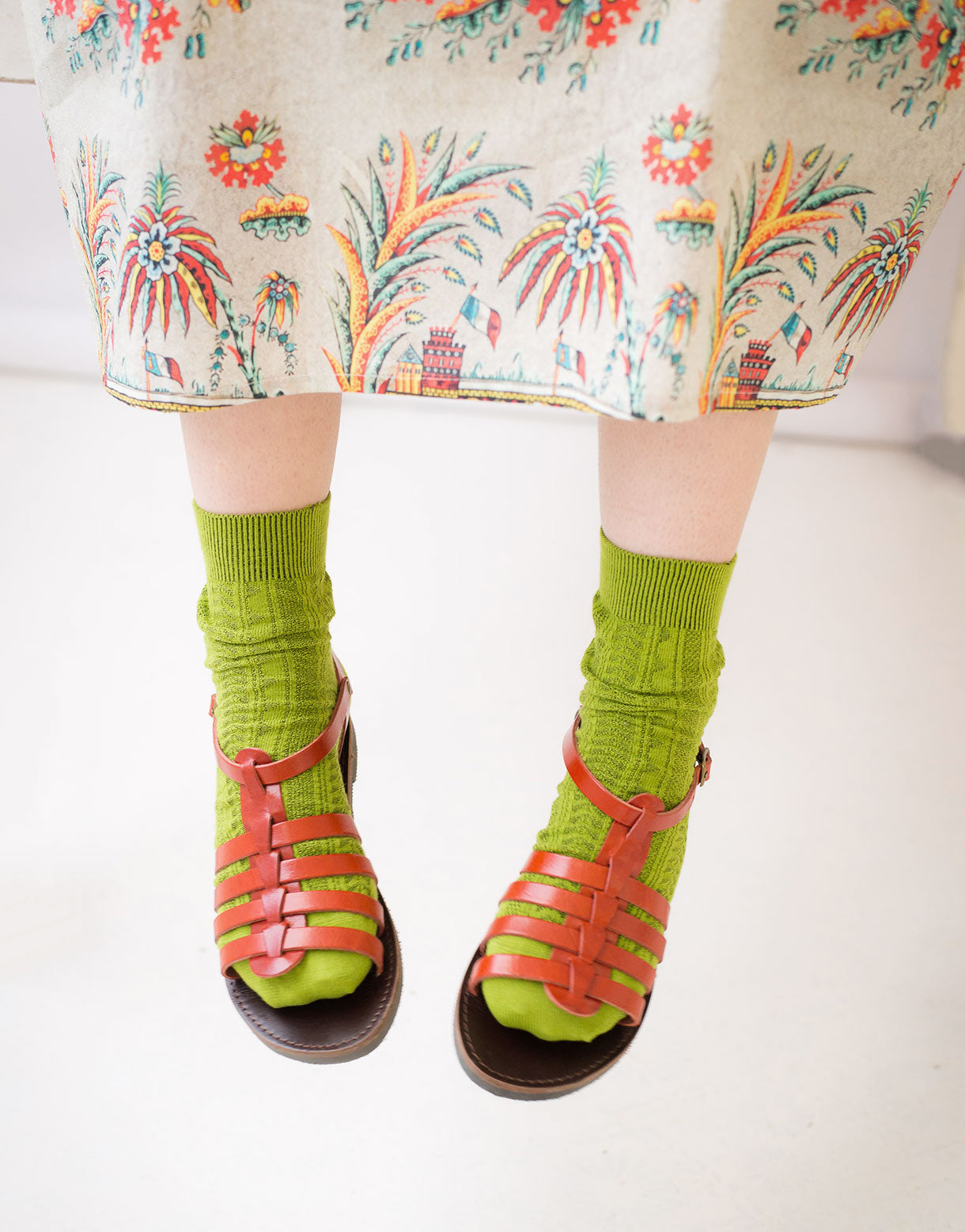 Tevere Socks in Lime