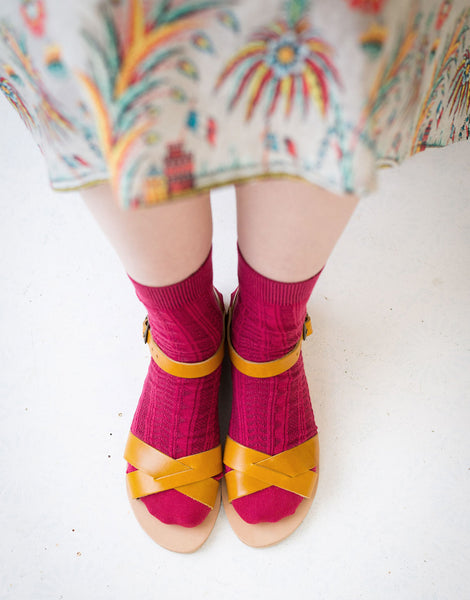 Tevere Socks in Raspberry