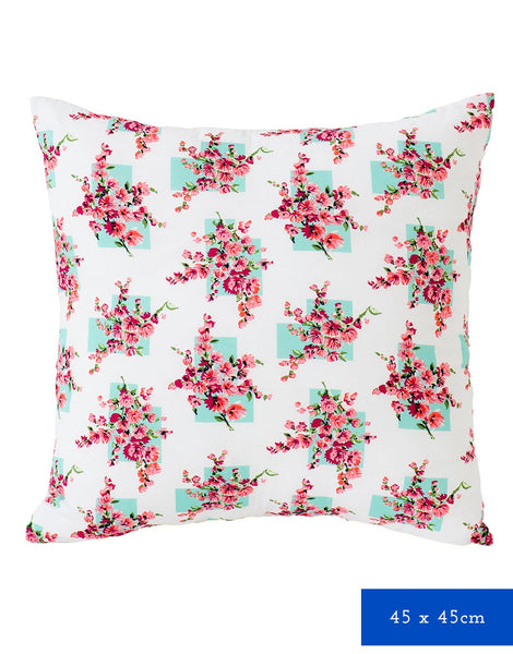 Square Cushion Cover in Coral Bay