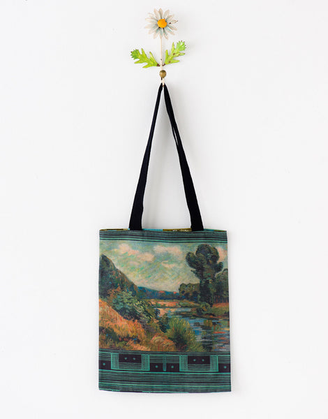 Landscape tote bag small *organic cotton