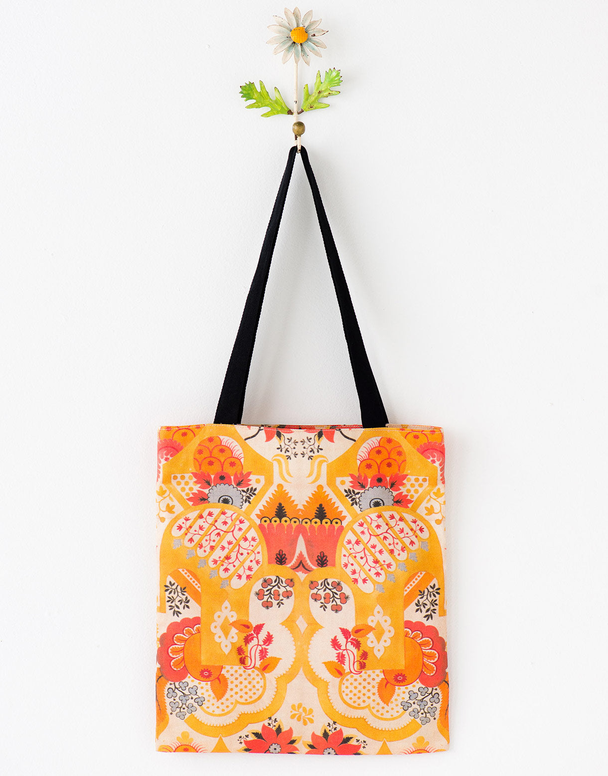 Oranges tote bag large *organic cotton