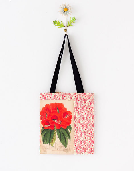 Rhododendron tote bag small *organic cotton