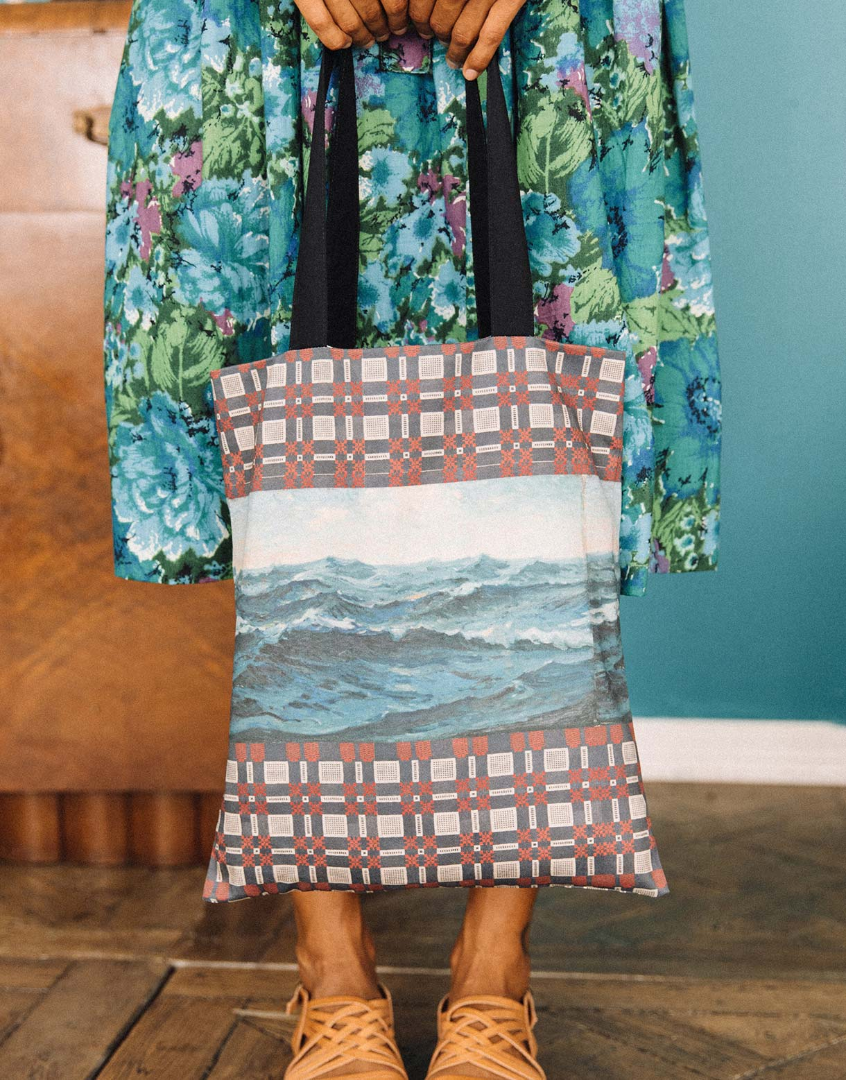 Seascape tote bag large *organic cotton