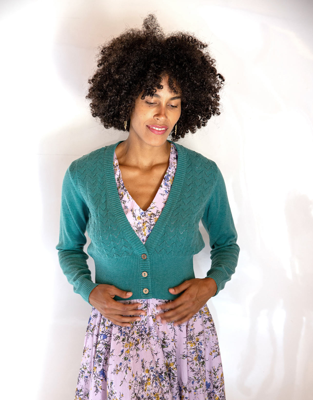 Verity Cardigan in River Blue *organic cotton