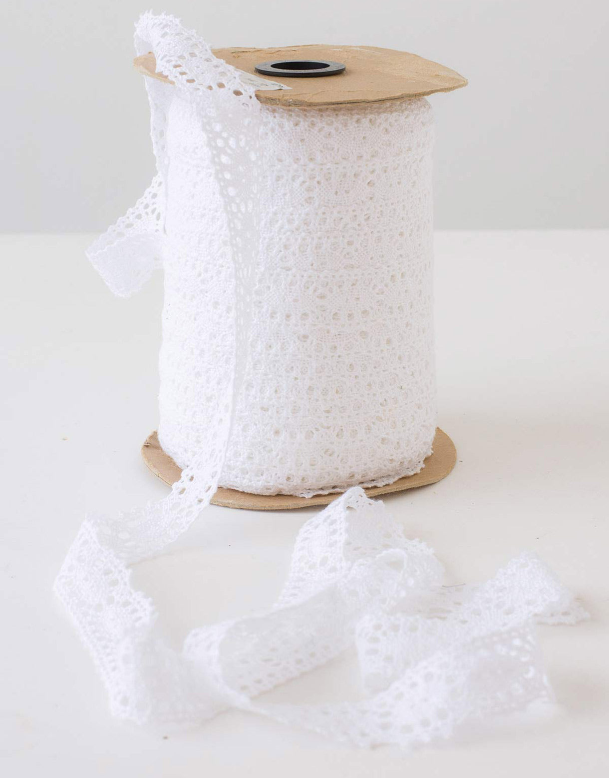 White Cluny Lace Trim