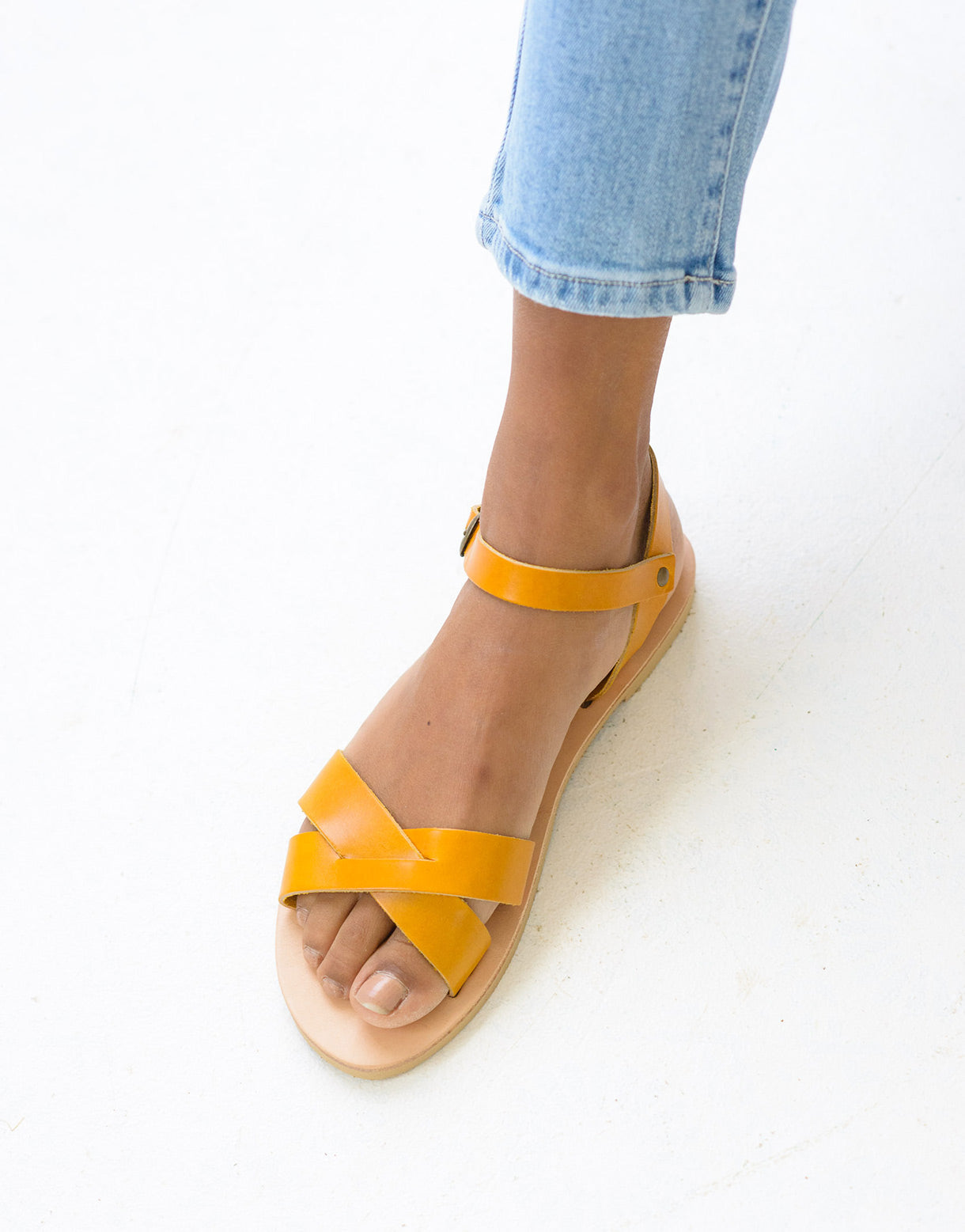 Erato Sandals in Yellow