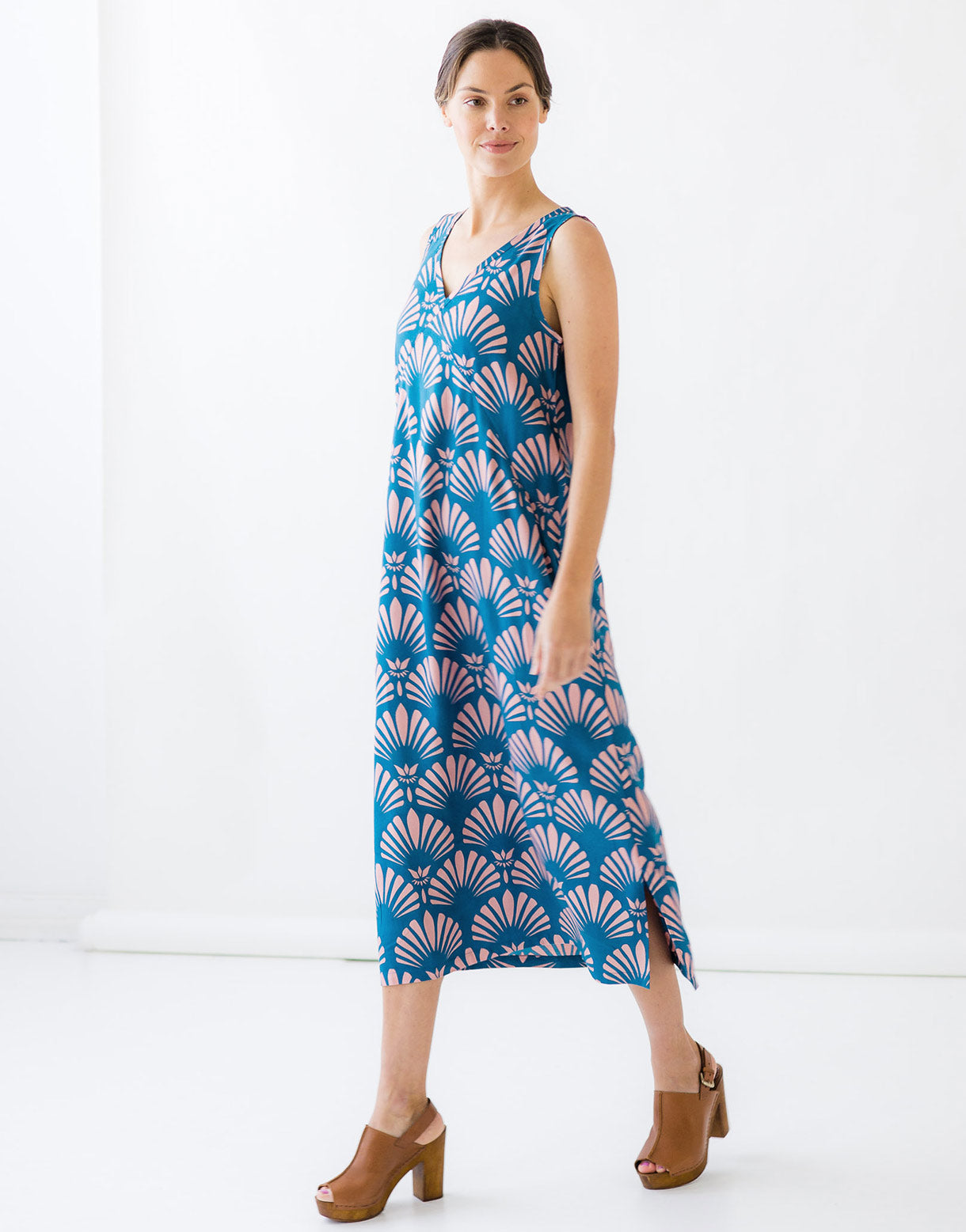 Ziggy Dress in Fantail *sustainable viscose