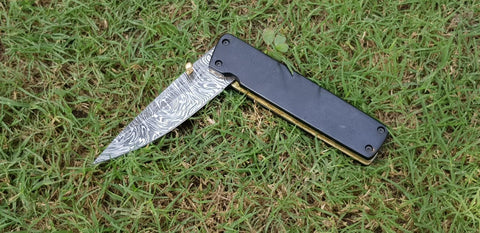 Poket folder with twist pattern Damascus