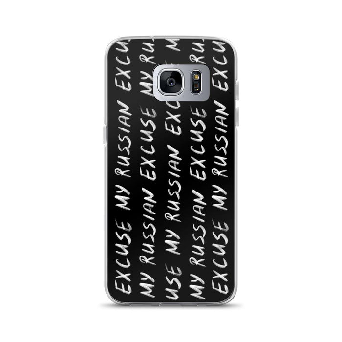 Phone Cases - Hand Written Logo Samsung Case Black