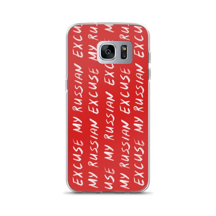 Phone Cases - Hand Written Logo Samsung Case Red