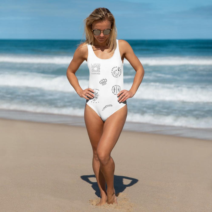 Swimwear - Vintage Russian Tattoos One-Piece Swimsuit