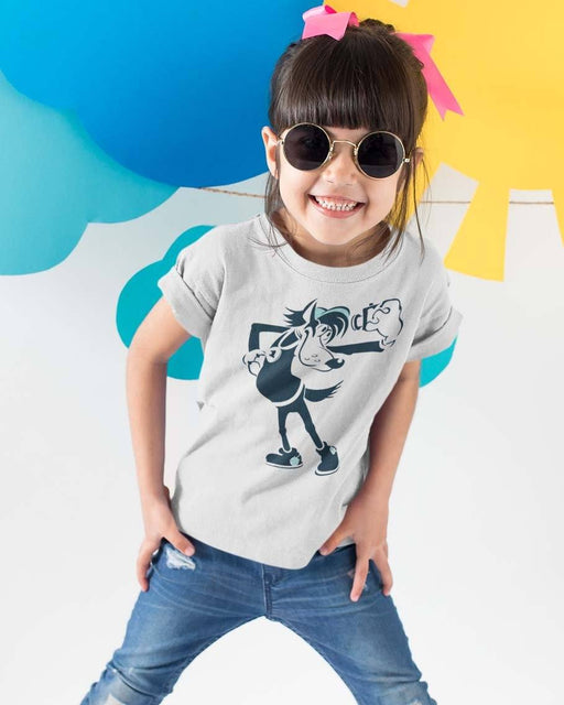 T-Shirts - Wolf Russian Street Art Style T-shirt (Toddler)
