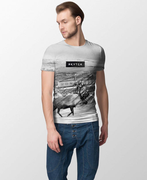 T-Shirts - Yakutsk All-Over Printed Men's T-Shirt
