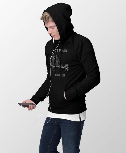 Verrazano Bridge Black Hooded Sweatshirt