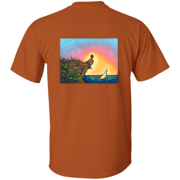 """The Adventurer"" - printed on the back - Custom Ultra Cotton T-Shirt"