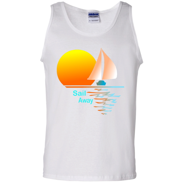 Sail Away on 100% Cotton Tank Top