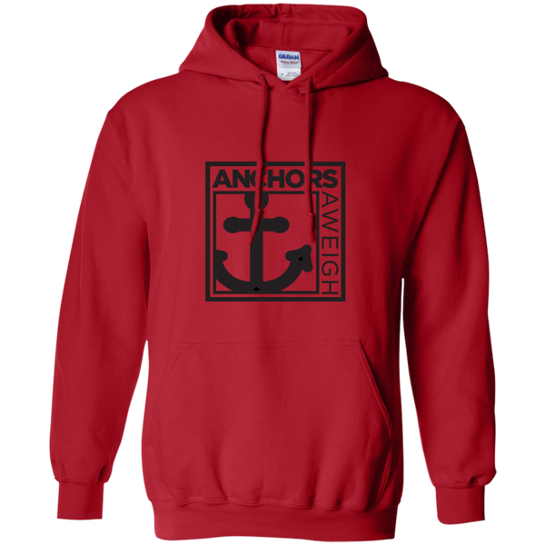 """Know Your Boat"" – Anchor - Black on Pullover Hoodie 8 oz"