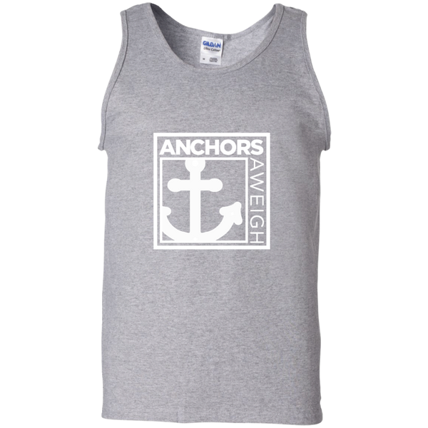 """Know Your Boat"" – Anchor - White on 100% Cotton Tank Top"