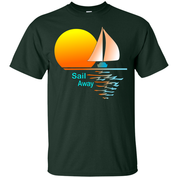 Sail Away on Dark Custom Ultra Cotton T-Shirt