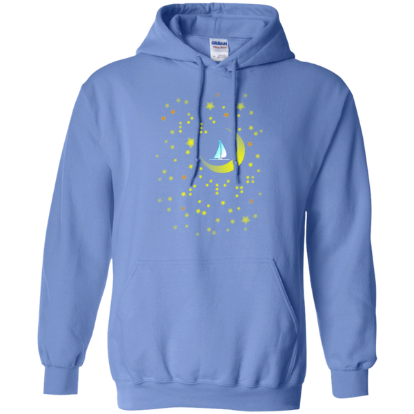 Moon Sailing on G185 Gildan Pullover Hoodie 8 oz.