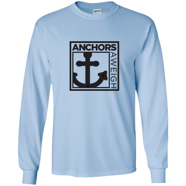"""Know Your Boat"" - Anchor - Black on LS Ultra Cotton Tshirt"