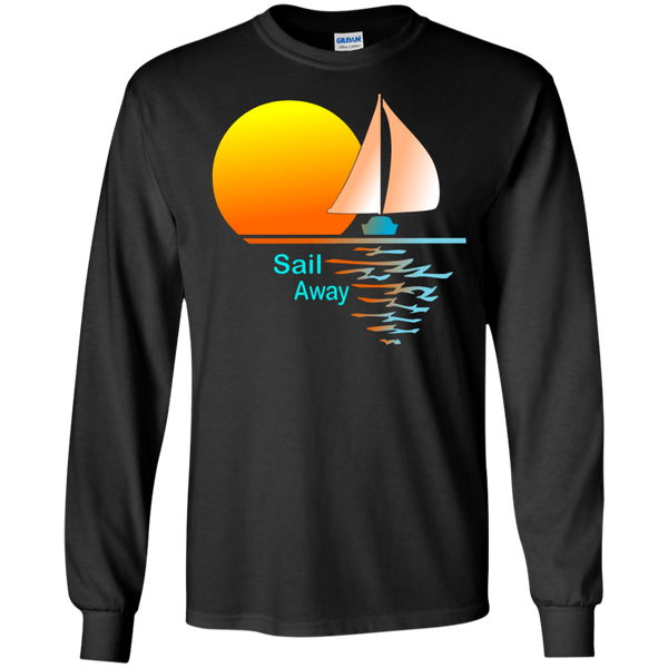 Sail Away on Dark LS Ultra Cotton Tshirt