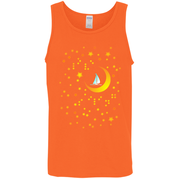 Moon Sailing on G520 Gildan Cotton Tank Top 5.3 oz.