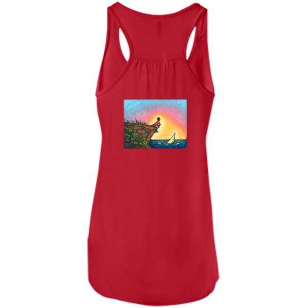"""The Adventurer"" - printed on the back – Bella+Canvas Flowy Racerback Tank"