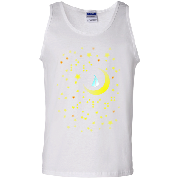 Moon Sailing on G220 Gildan 100% Cotton Tank Top