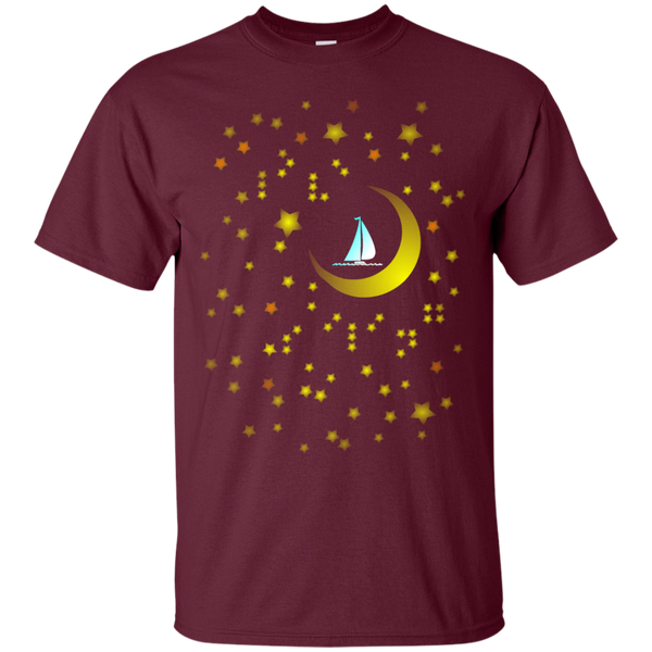 Moon Sailing on G200 Gildan Ultra Cotton T-Shirt